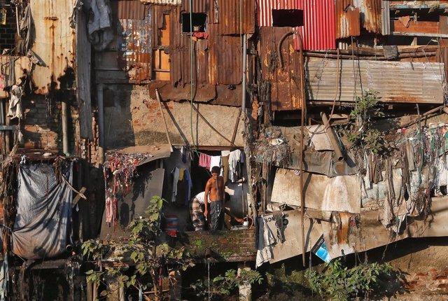 Poblado chabolista en Dharavi, Bombay
