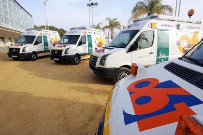 Cuatro heridos en un accidente de tráfico en la N-435 a su paso por Valverde del Camino