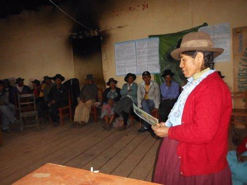 Mujer campesina en Perú