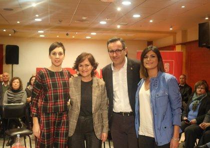 """Carmen Calvo: """"Las pensiones son la única manera de ser solidarios y de tener una democracia que redistribuya riqueza"""""""