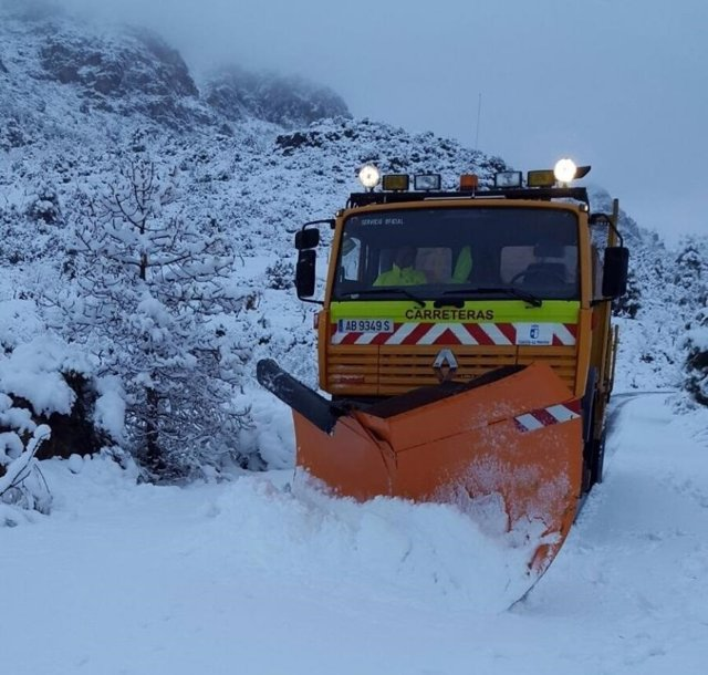 Medios conservación carreteras nieve