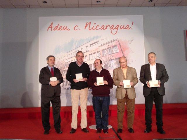 Narcís Serra, Raimon Obiols, Miquel Iceta, José Montilla y Pere Navarro