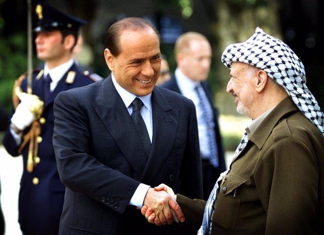 Berlusconi y Arafat