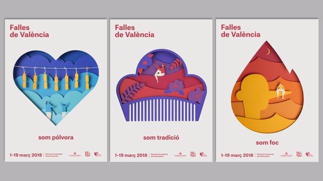 Carteles de las Fallas de València de 2018