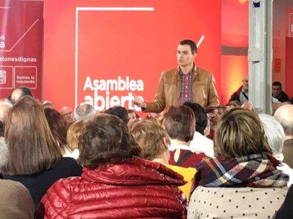 """AMP.- Sánchez dice que España no puede quedar """"varada"""" por la """"irresponsabilidad secesionista"""" y la """"inacción"""" de Rajoy"""