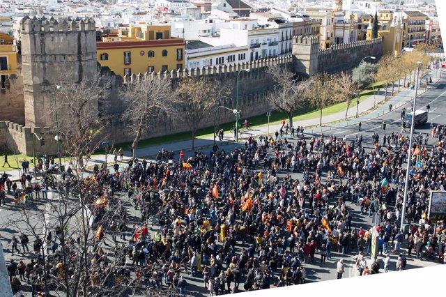 Manifestación de Jusapol en Sevilla