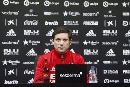 """Marcelino: """"Después de dos derrotas seguidas en LaLiga necesitamos una victoria"""""""