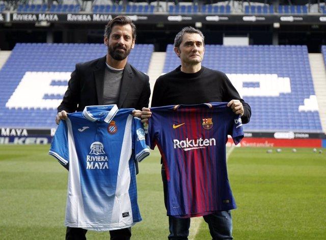 Quique Sánchez Flores Ernesto Valverde Espanyol Barcelona