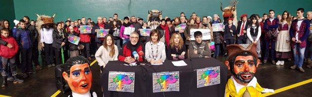 Presentación de la iniciativa 'Vuelta a Navarra del pueblo de Alsasua'