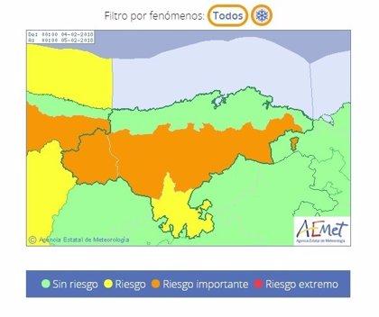 Cantabria estará este domingo en riesgo importante por la nieve