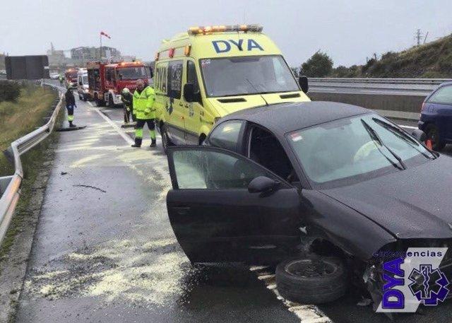 Uno de los accidentes de Ontón