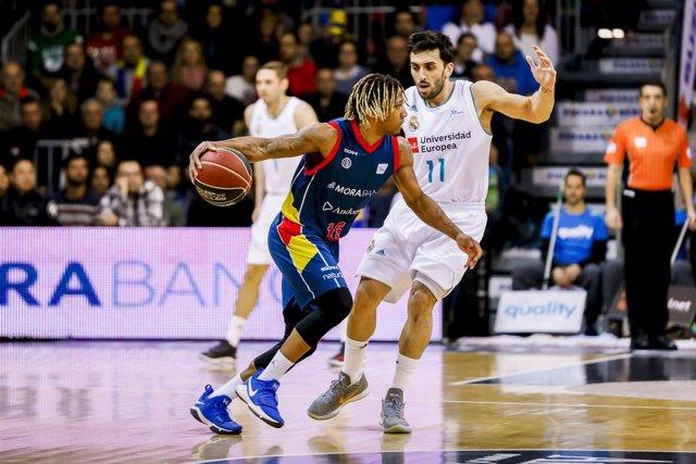 Albicy, de Andorra, ante Campazzo en un Morabacn-Real Madrid