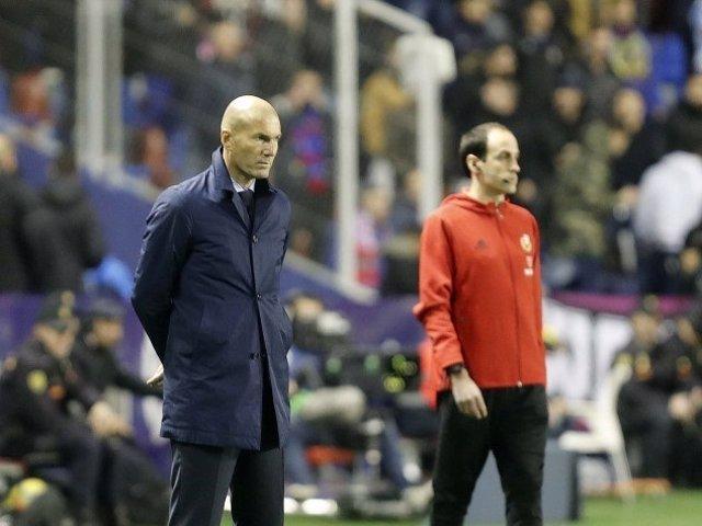 El entrenador del Real Madrid, Zinédine Zidane