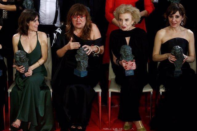 Mujeres premiadas en los Goya