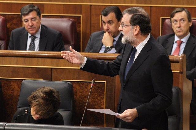Mariano Rajoy, desde su escaño