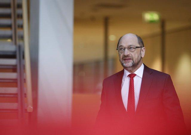 Martin Schulz llega a las conversaciones finales de Gobierno