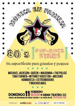 Música en familia 80's stars