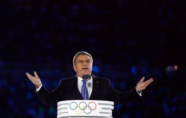 El presidente del Comité Olímpico Internacional (COI), Thomas Bach