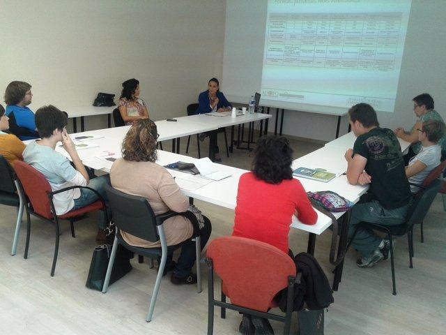 Una de las sesiones de Sofejea con emprendedores ejeanos