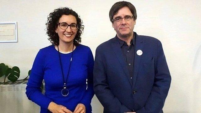 Reunión entre Puigdemont y Rovira en Bélgica para pactar la Mesa del Parlament