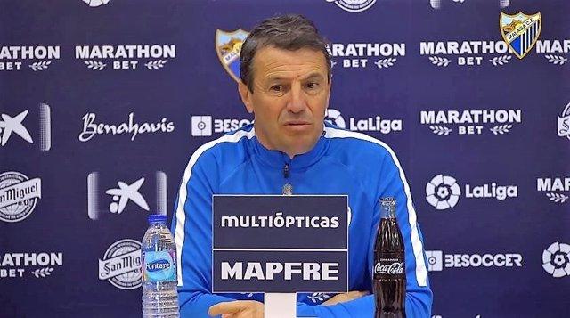José González, entrenador del Málaga