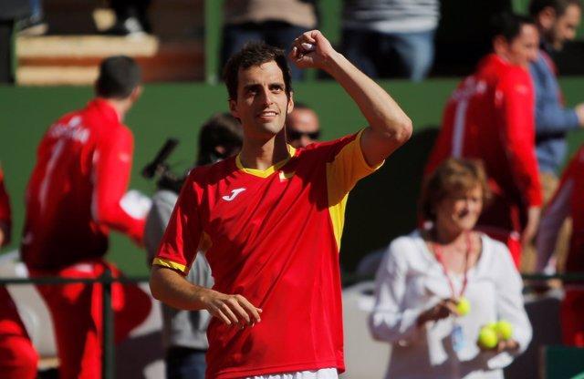 Albert Ramos celebra su victoria