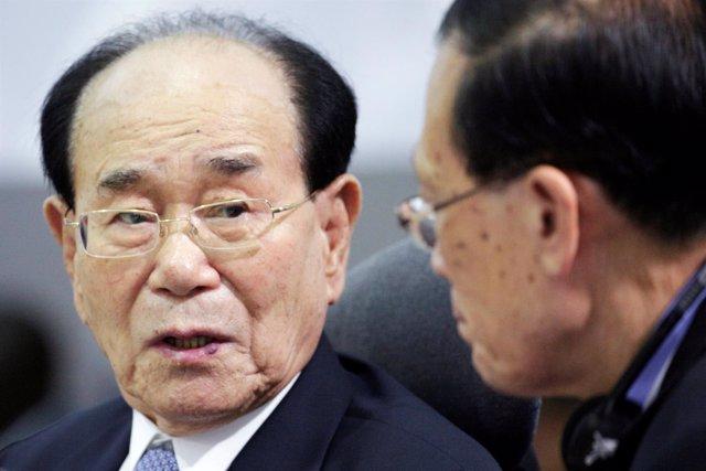 Kim Yong Nam, jefe de estado honorífico de Corea del Norte