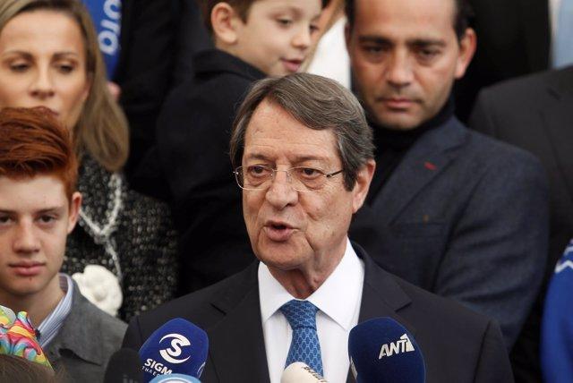 El presidente de Chipre Nicos Anastasiades