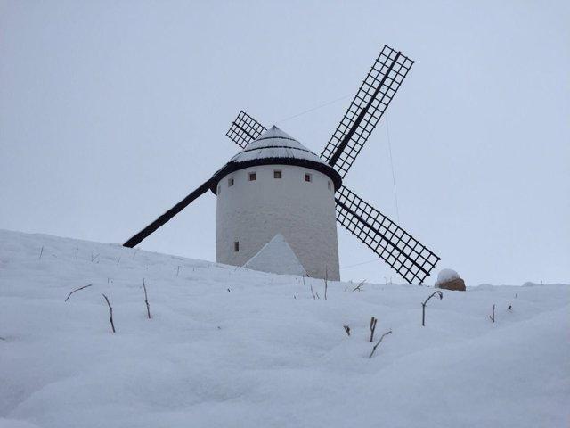 Nieve en Campo de Criptana, Ciudad Real