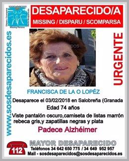 Mujer desaparecida en Salobreña