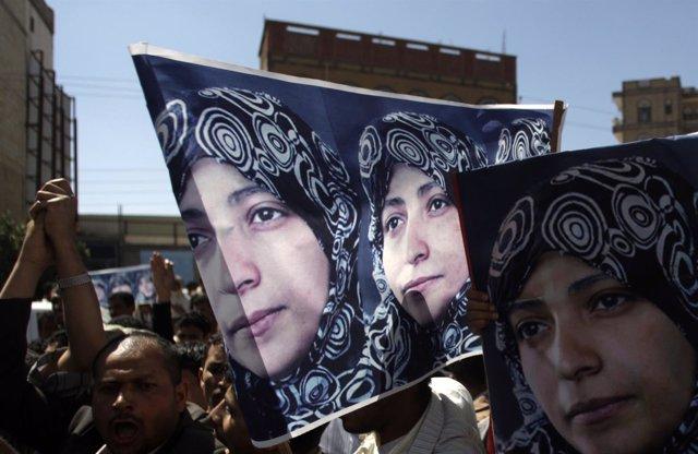 Protestas en Yemen, activista de oposición Tawakul Karman
