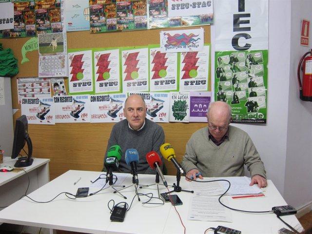 Jesús Aguayo y José Ramón Merino del STEC
