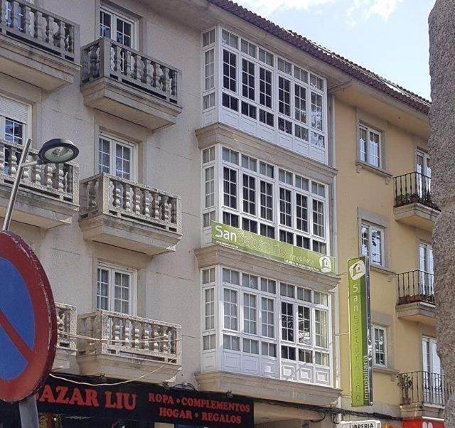 Inmobiliaria propiedad de la familia Miñanco en Cambados (Pontevedra)
