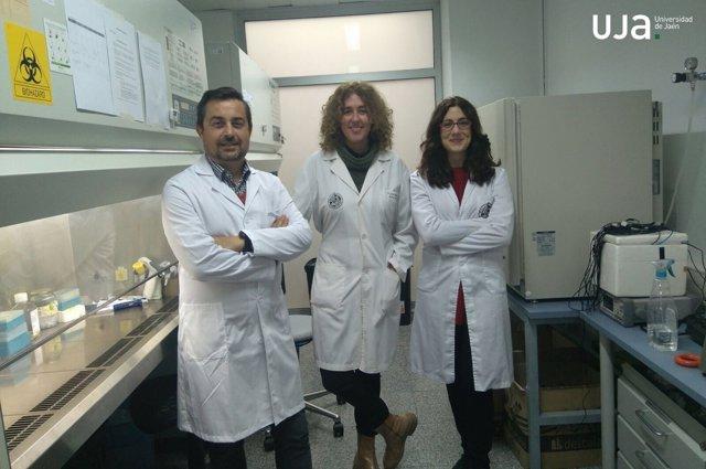 Los investigadores, Juan Antonio Marchal, Macarena Perán y y Elena López