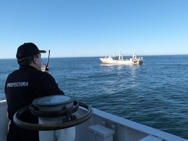 El buque de Marín 'Playa Pesmar Uno' es apresado por Argetina