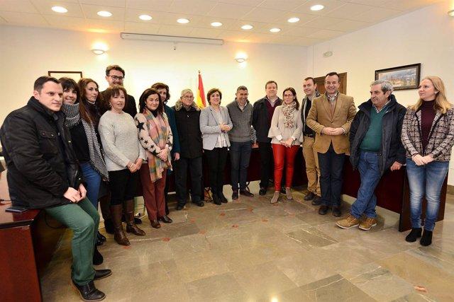Reunión de delegados de la Junta y alcaldes del Valle de Lecrín