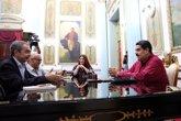 Foto: Maduro recibe a Rodríguez Zapatero en Caracas tras la última ronda de diálogo con la oposición de Venezuela