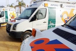 Ambulancia del 061 en Andalucía