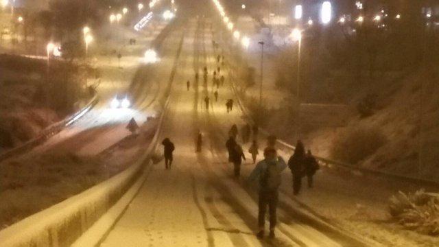 Nieve en Colmenar Viejo
