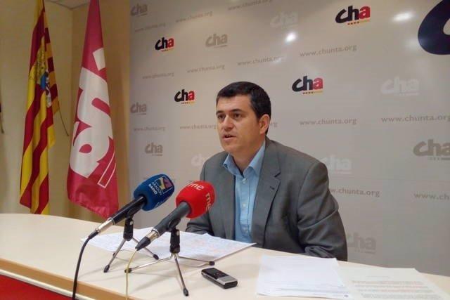 El secretario de Territorio y Sostenibilidad de CHA, Joaquín Palacín