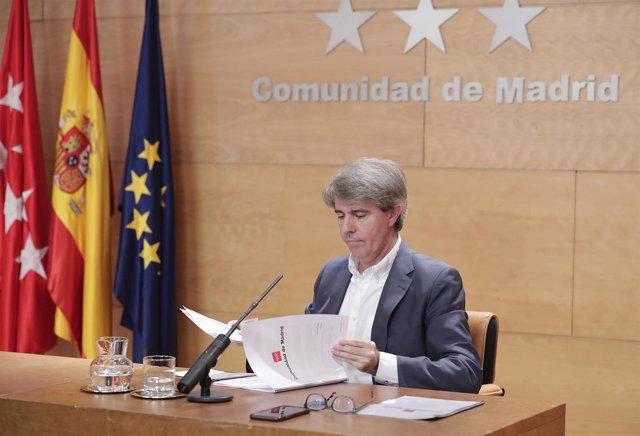 Garrido. Reunión Del Consejo De Gobierno  Rueda De Prensa Tras La Reunión Del Co