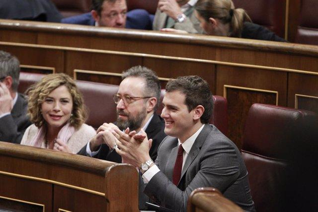 Albert Rivera en el grupo de Ciudadanos en el Congreso