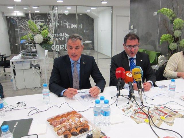 El director general de Donpiso Luis Pérez y el subdirector Emiliano Bermúdez