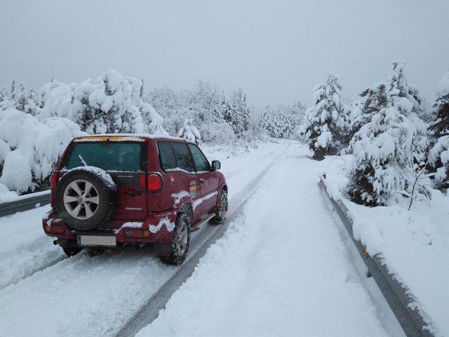 Nieve en la zona del Moncayo