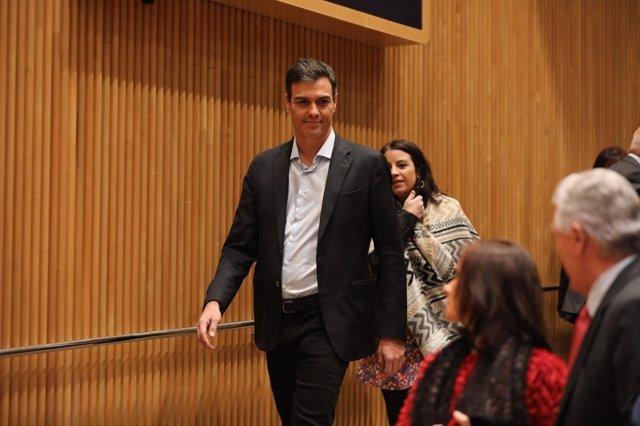 Pedro Sánchez interviene en la reunión del Grupo Parlamentario Socialista