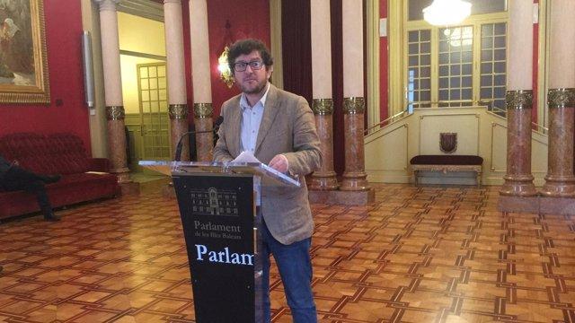 Alberto Jarabo en el Parlament