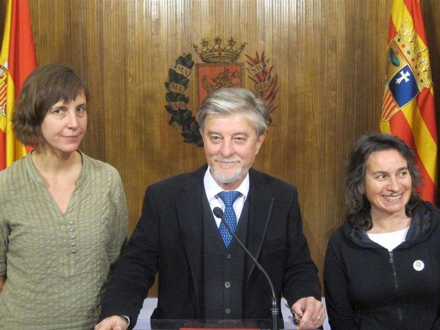 Artigas, Santisteve y Luisa Broto