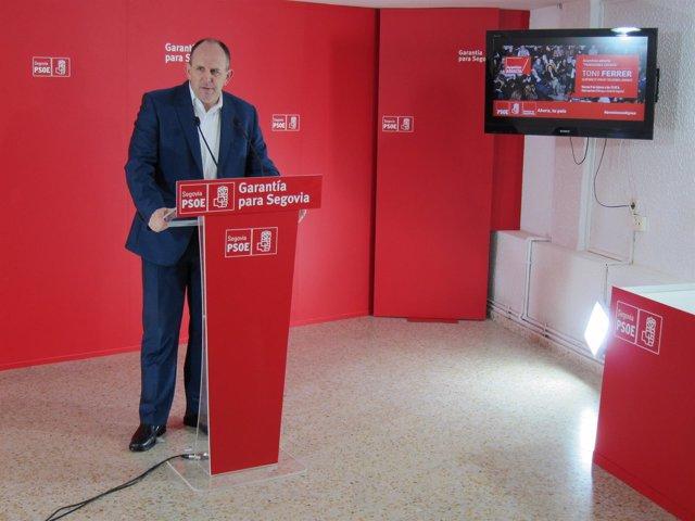 José Luis Aceves, secretario del PSOE de Segovia.