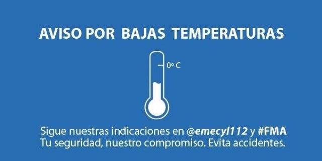 Aviso por bajas temperaturas en CyL