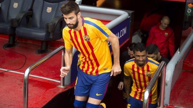 Gerard Piqué Barcelona senyera